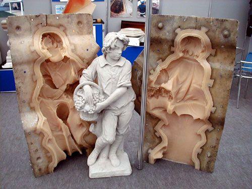 como hacer moldes para esculturas de cemento y tipos