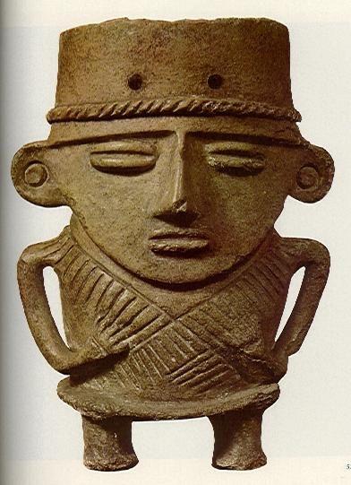Estatua, escultura o figura Muisca de Colombia.