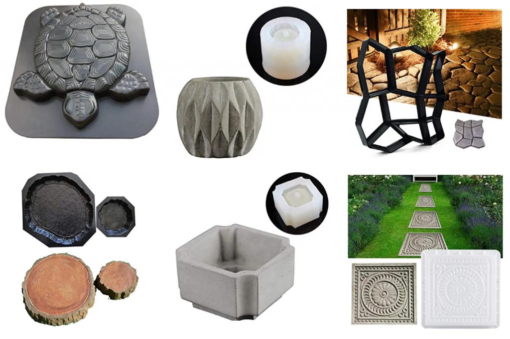 Moldes para figuras de cemento, concreto y hormigon.